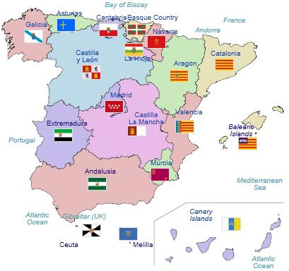 Northern Vs Southern Spanish Iq Redux Hbd Chick - Spain regions map