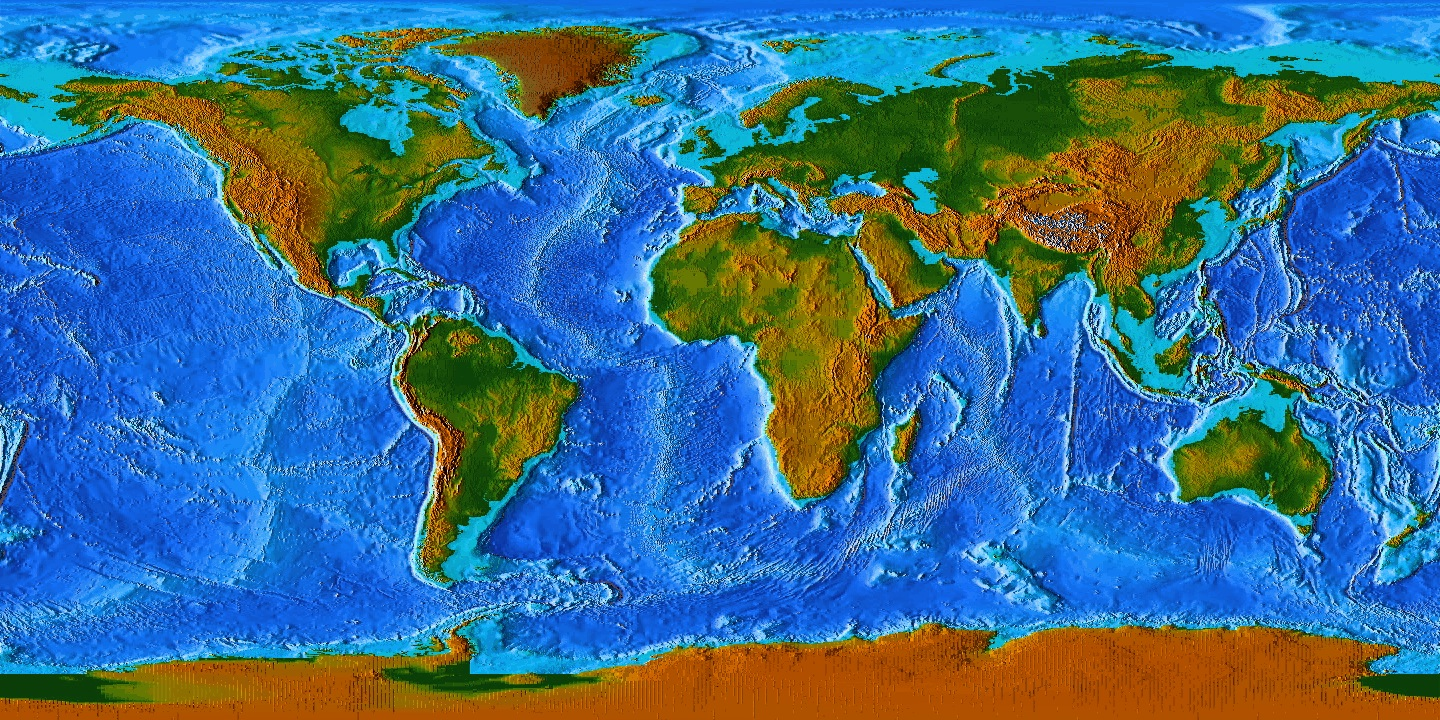 Ocean Floor Elevation Map : The flatlanders vs mountain people hbd chick