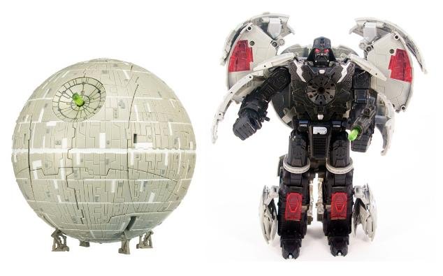 transformers darth vader-death star