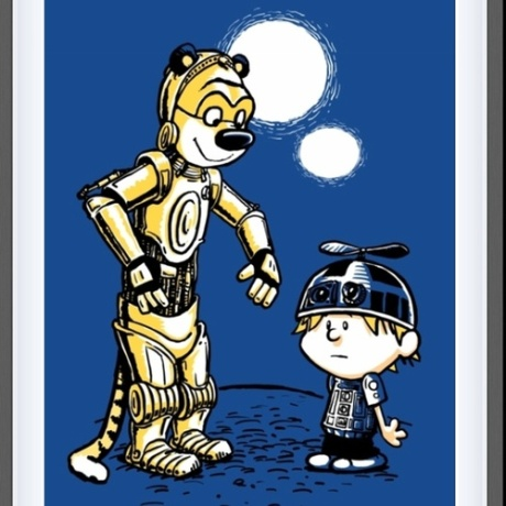 calvin and hobbes star wars edition