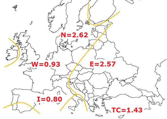 europe map - ralph & coop regional ibd rates + hajnal line