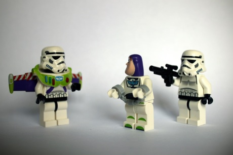 buzz and stormtroopers