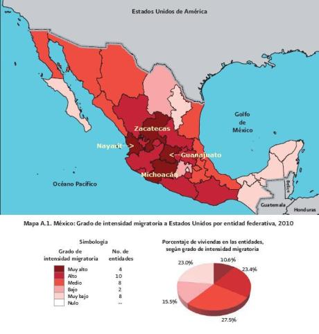immigration from mexico by federal district - 2010b