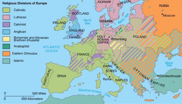 the reformation religious map of europe 1600 Protestant Reformation Hbd Chick