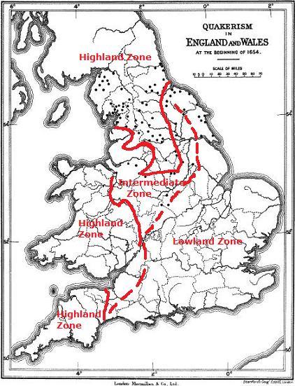 map1654 + highlands lowlands intermediate zone