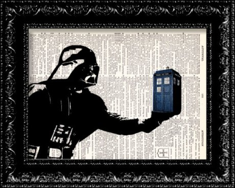 doctor who - darth vader and tardis