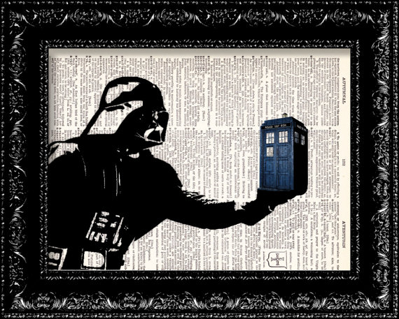 doctor who - darth vader and tardis