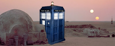 doctor who - police box on tatooine