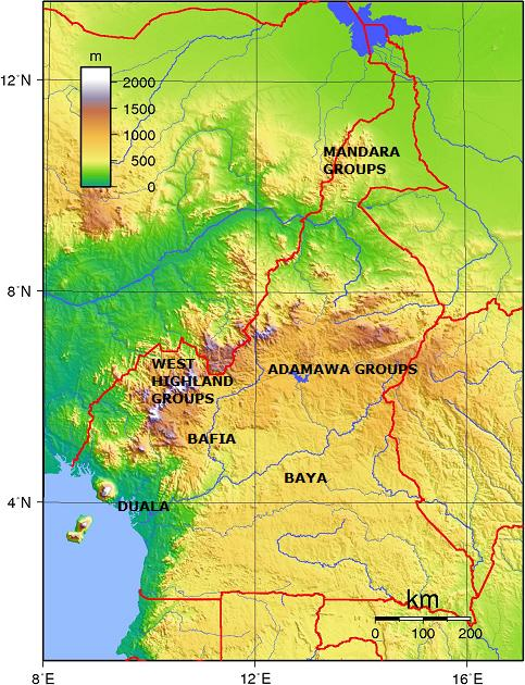 cameroon - ethnic groups + topography