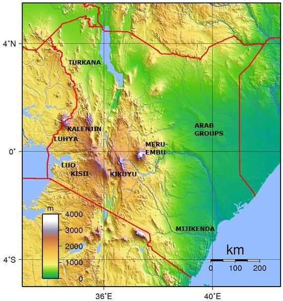kenya - ethnic groups + topography