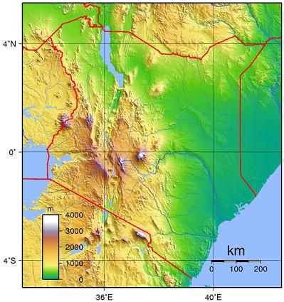 kenya - topography 02