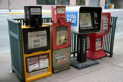 newspaper vending machine