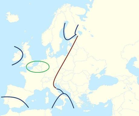 hajnal line - core europe