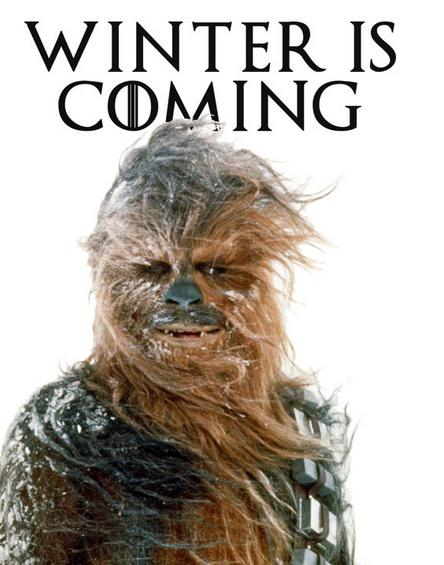 winter is coming - chewbacca
