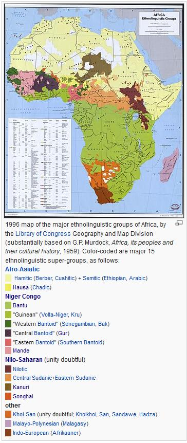 subsaharan africa ethnolinguistic groups