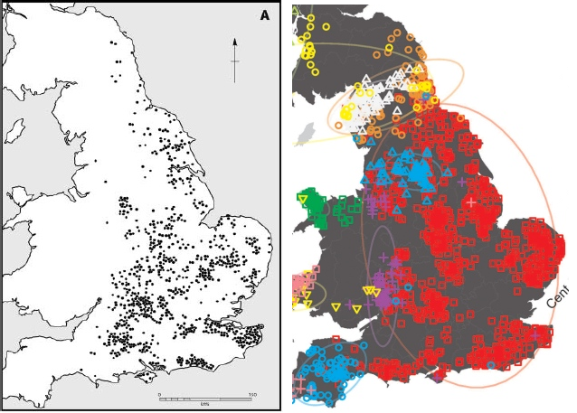 Anglo Saxon Map Of England.Anglo Saxon Burials And Genetics In England Hbd Chick