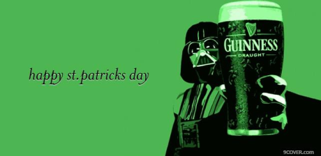 st patrick's day darth vader guinness