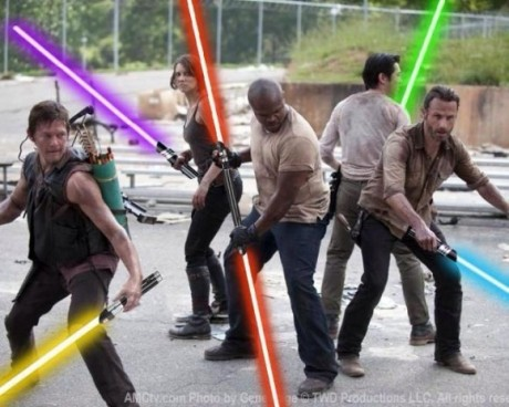 walking dead lightsabers