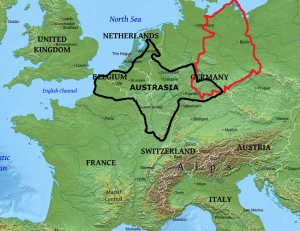Westerneurope Physical Map Austrasia East Germany Hbd Chick